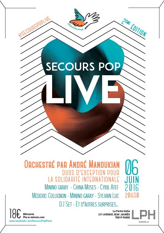 lundi 6 juin secours pop live la petite halle de la villette 75 voisins voisines grand. Black Bedroom Furniture Sets. Home Design Ideas