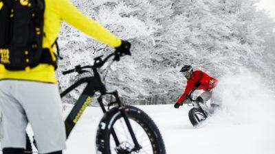 l'E-Track Fat, le vélo spécial neige !