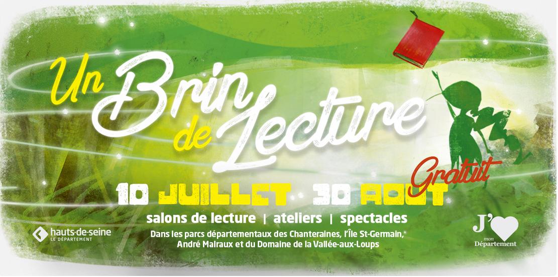 Durant l'été «Un brin de Lecture» dans les parcs des Hauts-de-Seine (92)