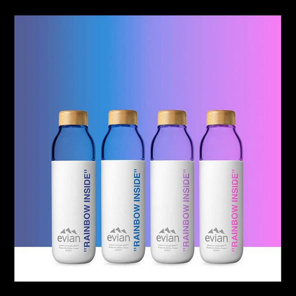 Virgil Abloh créé la nouvelle bouteille d'Evian