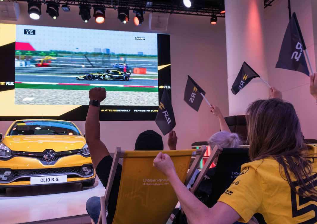Vivez la Formule 1 en direct à L'Atelier Renault (75)