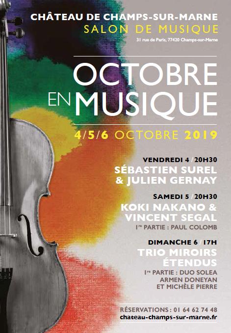 > Du 4 au 6 octobre / / Octobre en musique au Château de Champs-sur-Marne (77)