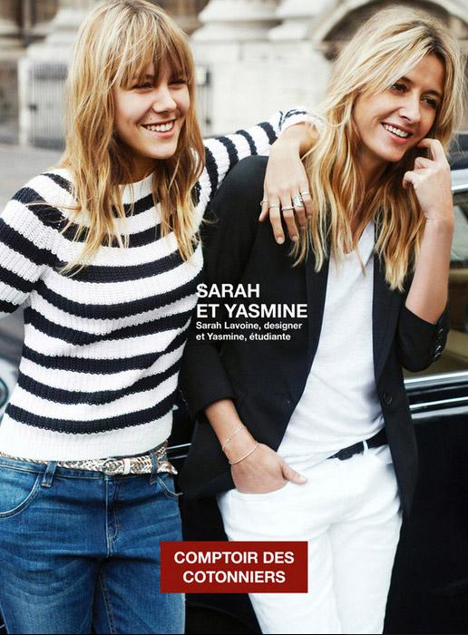 Top Duo / Sarah et Yasmine Lavoine pour le Comptoir des Cotonniers