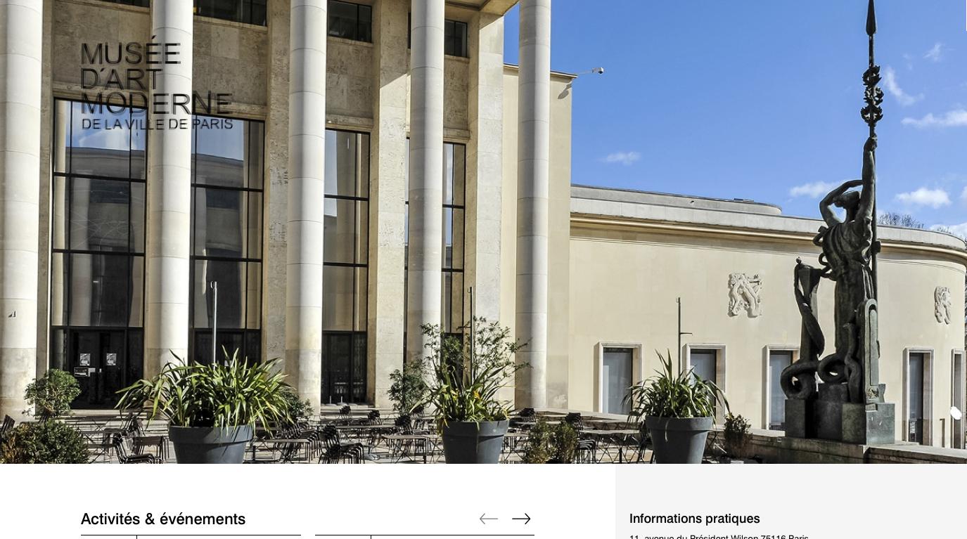 Le site Internet du Musée d'Art Moderne de la Ville de Paris fait peau Neuve (75)