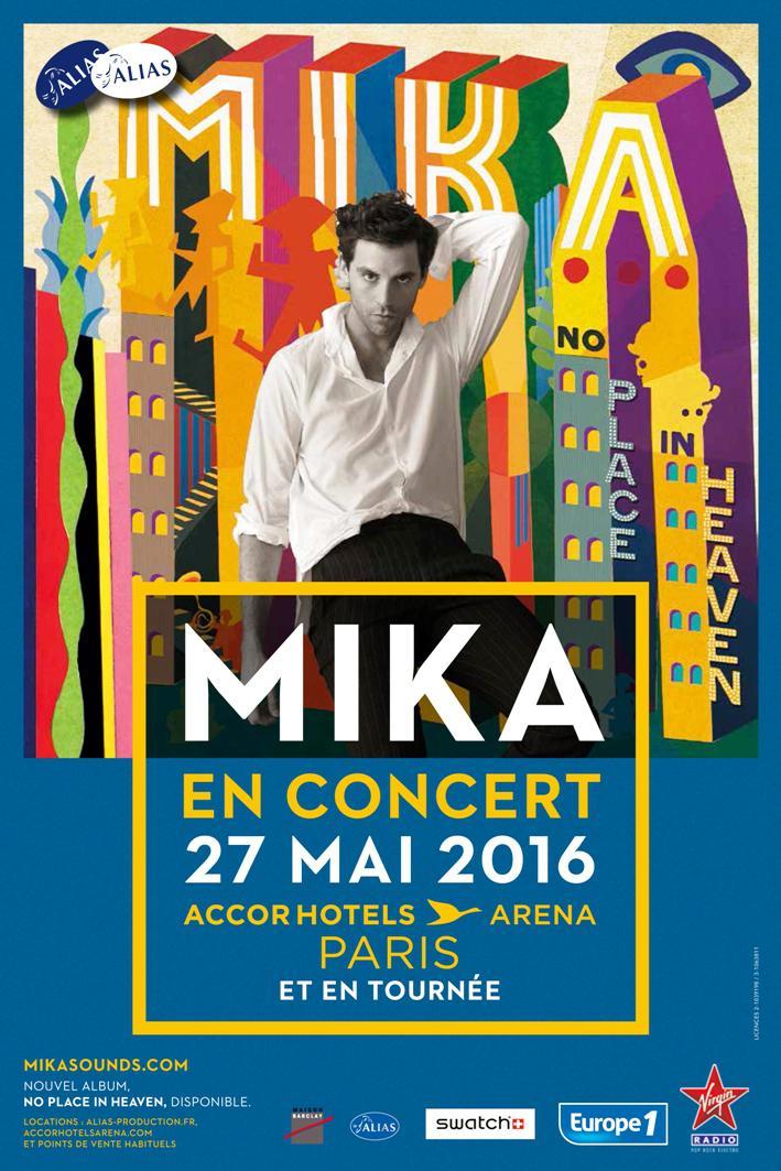 Réservez vite ! Mika à Accorhotels Arena (75)