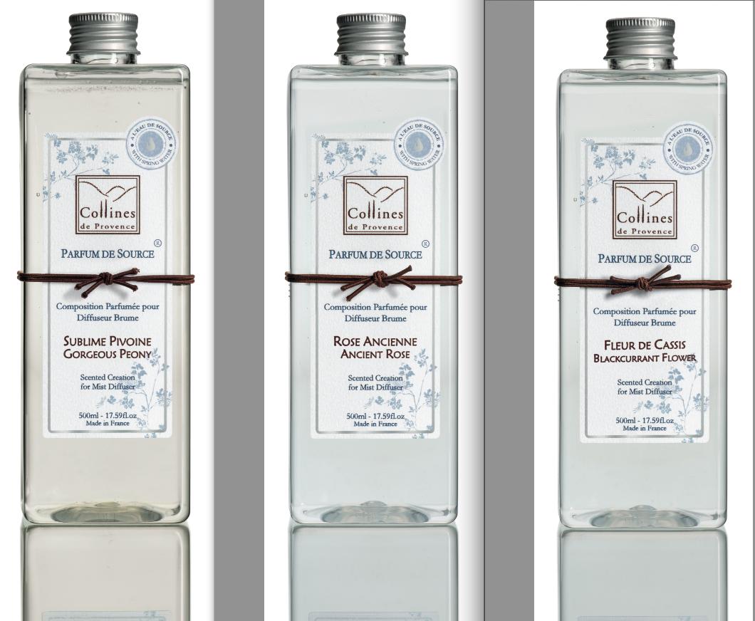 Collines de Provence le 1er Parfum d'Intérieur à l'Eau de Source !