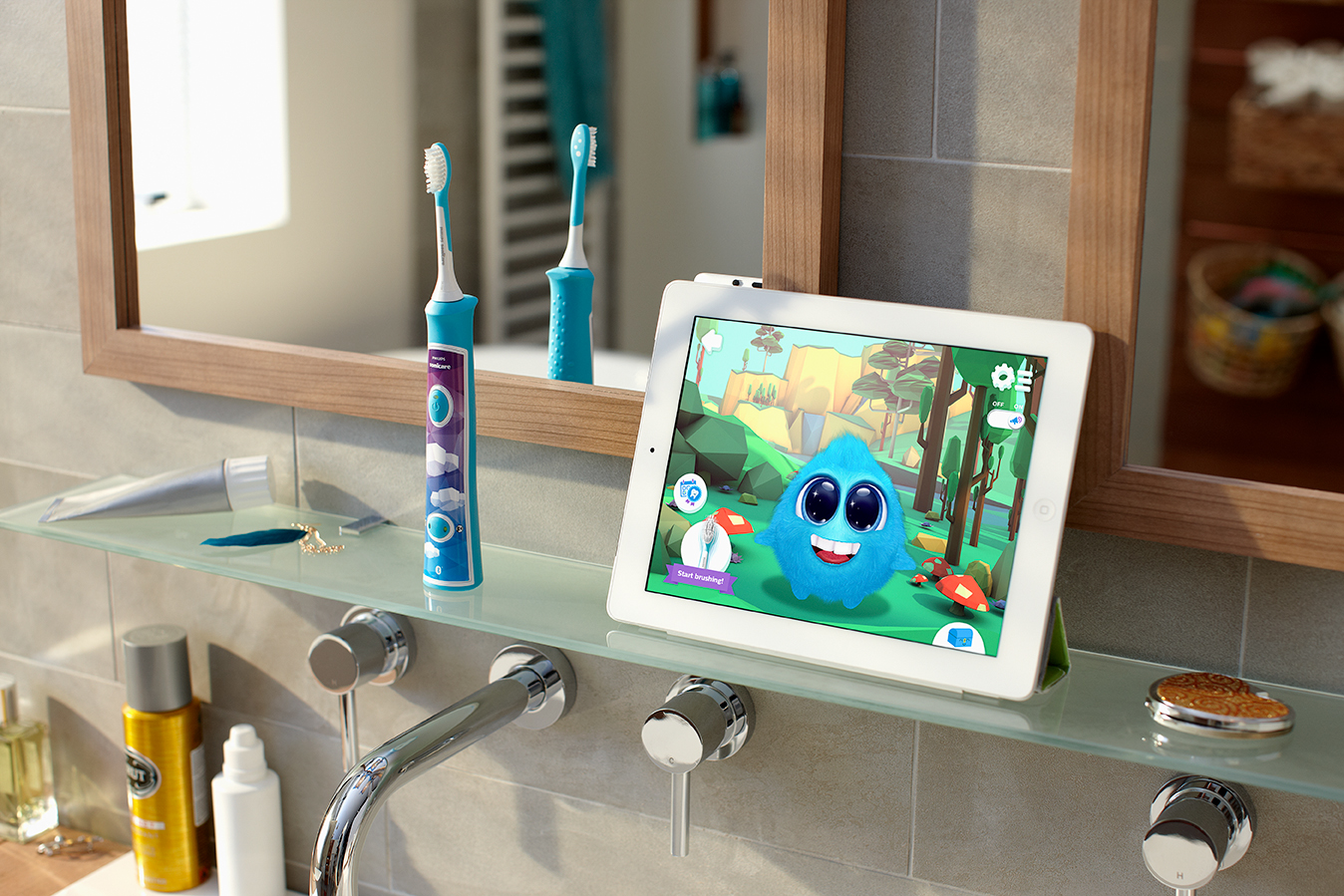 Philips Sonicare for kids ré-invente la brosse à dents connectée