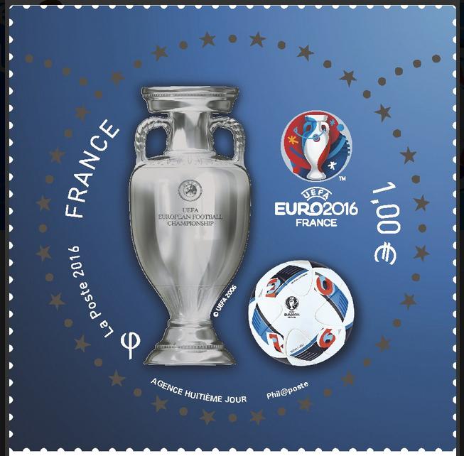 Le nouveau timbre de la Poste pour l'Euro 2016 ! Attention collector !