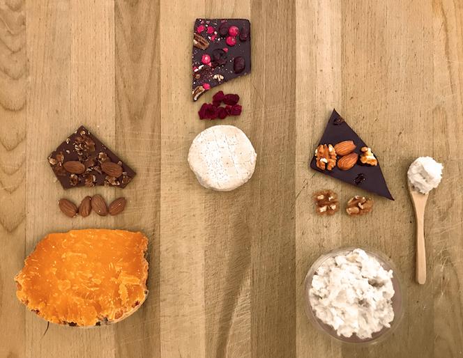 Les accords fromage & chocolat dans une box « prêt à manger »