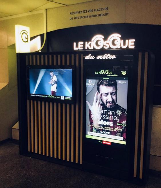 Inauguration du «Kiosque du Métro» à Saint-Lazare (75)