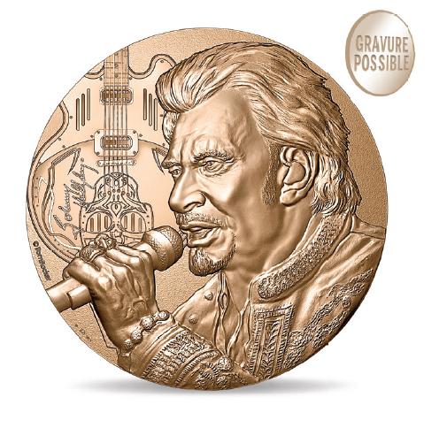 La Monnaie de Paris rend hommage à Johnny Hallyday