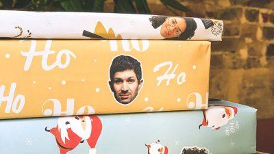 Du papier cadeau avec le visage de vos proches imprimé