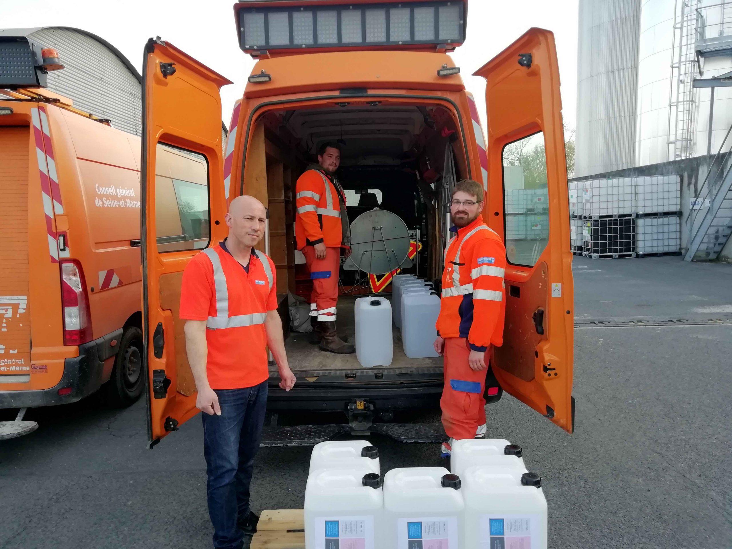 Le département de Seine-et-Marne a distribué 1000 litres de gel hydroalcoolique dans les Ehpad de la région (77)
