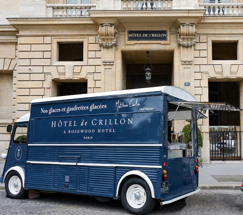Petit plaisir gustatif Ice-Cream Truck de l'hôtel Crillon, Paris 8e