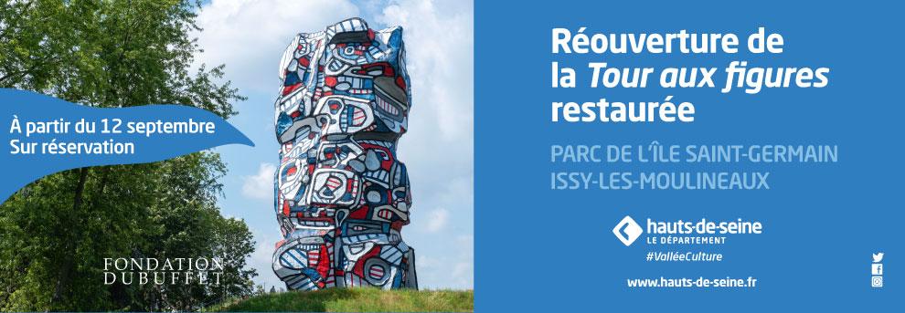 La Tour aux Figues de Dubuffet au Parc de l'Île Saint-Germain a retrouvé ses couleurs (92)