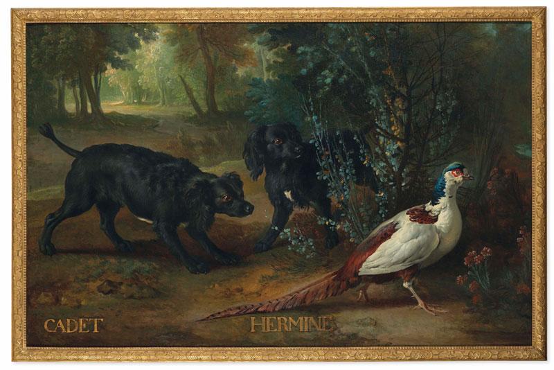 Le Château de Fontainebleau vient d'acquérir « Cadet et Hermine » un tableau exceptionnel de Jean-Baptiste Oudy (77)