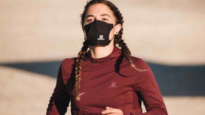Un masque barrière spécial sportif  conçu par Salomon