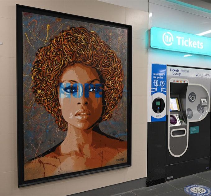 La station Créteil l'Echat accueille deux œuvres de l'artiste Raf Urban