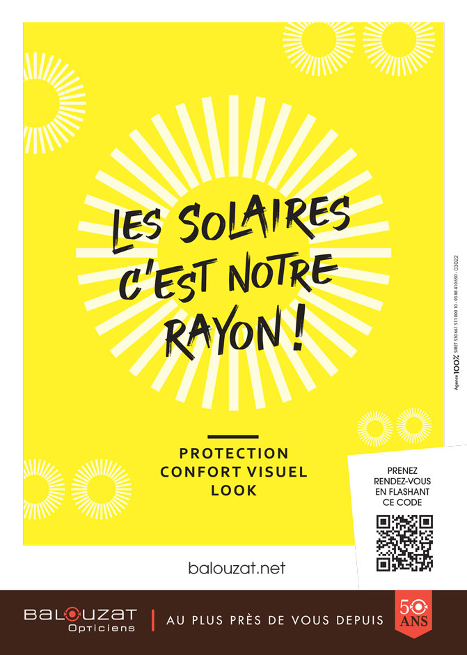Lunettes de soleil :  Quelle protection pour mes yeux ? Balouzat Opticiens vous explique comment bien la choisir