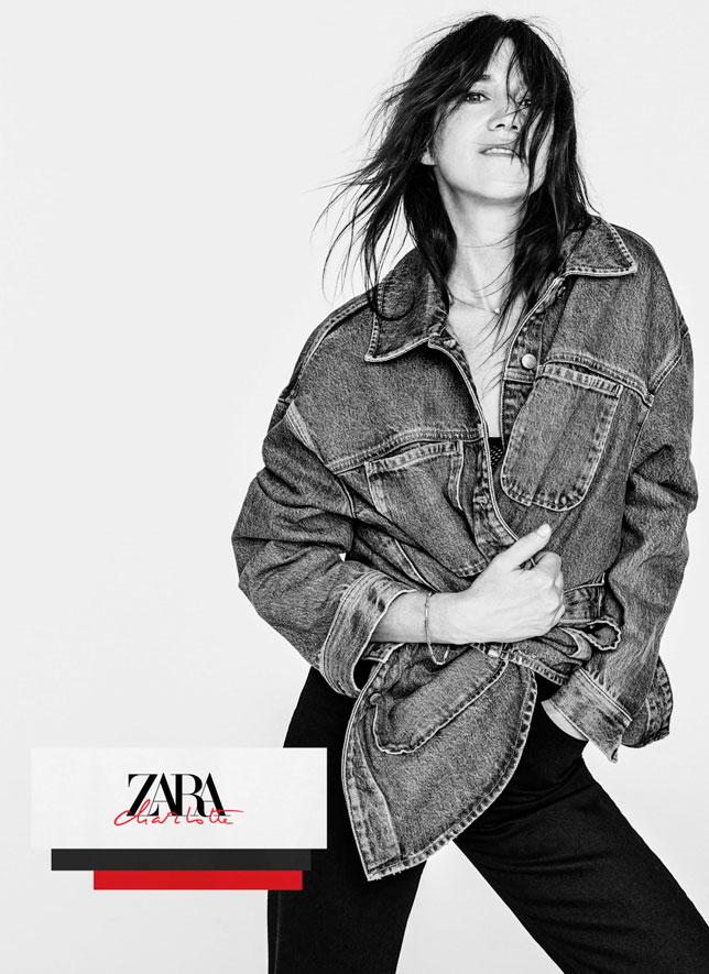 Charlotte Gainsbourg signe une collection Denim pour Zara